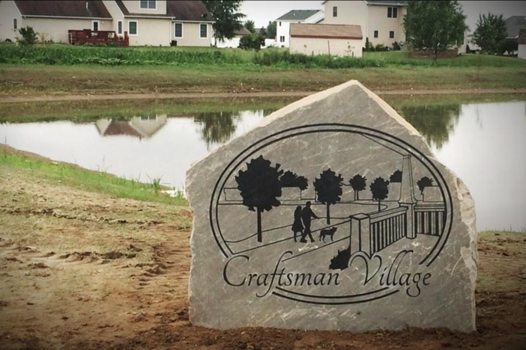 Craftsman Village Sign June 19, 2014